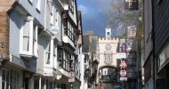 Totnes High Street and the Gate House